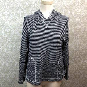 ❄️J. Crew Black White Striped Hooded Sweater
